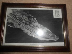 HMS DUCHESS PRINT, FRAMED