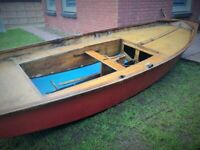 Mirror Dinghy / small sailing yacht / long boat / 3m x 1,5 m / set - witch oars, mast, ropes for sale  Kilmarnock, East Ayrshire