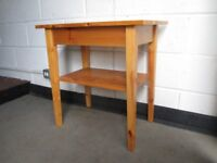 SMALL PINE ONE DRAWER KITCHEN TABLE SIDE TABLE