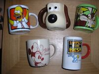 A selection of five interesting mugs.