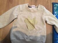 Girls Minnie Mouse sweater 9-12 months