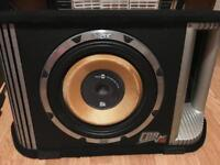 "Vibe BlackDeath CBR 12"" Active Amplified Car Sub Woofer Enclosure Bass Box 1800W"