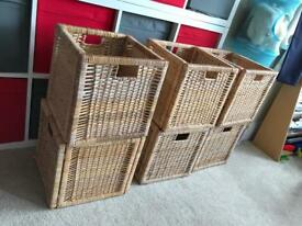 Ikea Wicker baskets for Kallax unit
