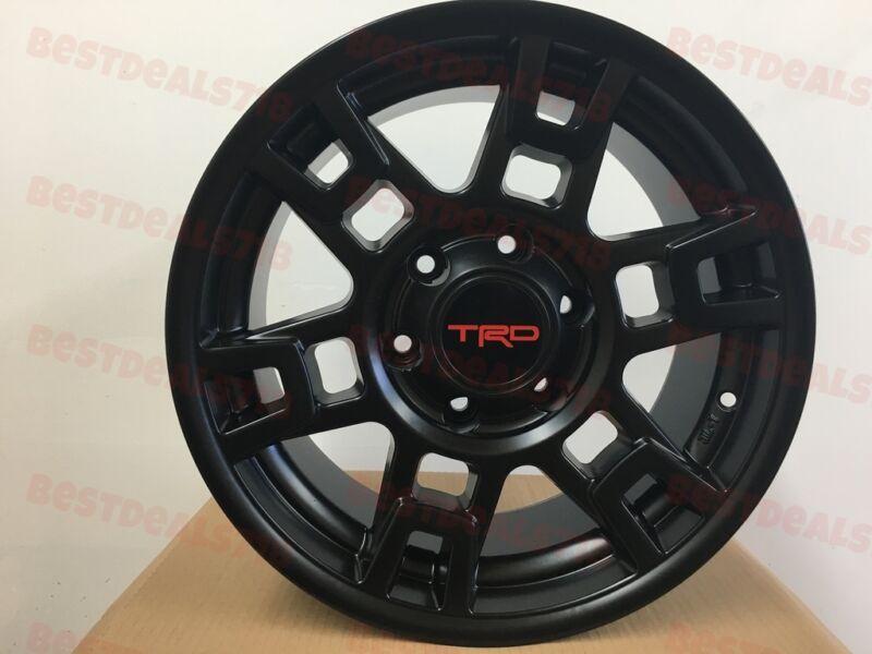 "Free Shipping Five 17"" Trd Sema Style Black Rims Wheels Fits Toyota Tundra Tacom"