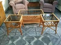Cane Conservatory Tables