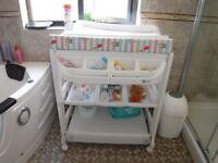 MyChild Peachy changing unit with baby bath