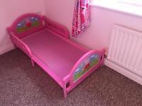 Complete Peppa Pig bedroom, bed, lights, curtains, wardrobe
