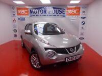 Nissan Juke ACENTA PREMIUM (SAT NAV) FREE MOT'S AS LONG AS YOU OWN THE CAR!!! (silver) 2010