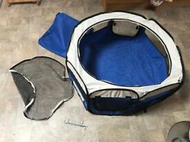 Small animal travel playpen