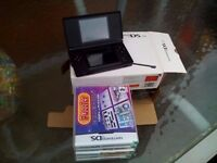 Nintendo DS Lite boxed as new plus games