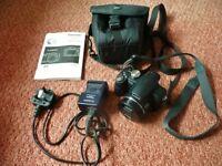 Black Panasonic LUMIX DMC-FZ18 8.1MP Digital Camera Memory Card Lowepro Case
