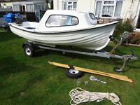 12ft Fishing / day boat trailer and seagull outboard