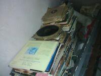 job lot of hundreds of vinyl records.