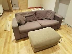 Sofa and puffy