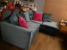 teal corner couch