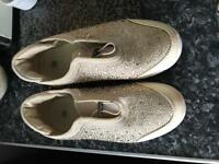 Ladies size 6 dimante trainers