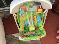 Fisher Price Rainforest swing/ seat