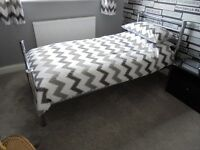 Single Bed and Mattress - Both as new