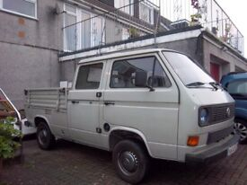 VW T25 CREW CAB PICK UP DOKA FULL MOT. IN GOOD CONDITION 1988