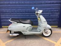 2016 PEUGEOT DJANGO 125cc HERITAGE , HPI CLEAR , LOW MILES , MINT CONDITION ,UK DELIVERY