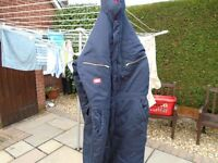 One piece cold weather suit size XL