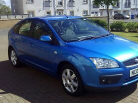 FORD FOCUS 1.6 SPORT 2007, Metallic Blue 5dr, £1800, new front brakes and new battery, MOT 75K MILES