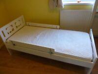 IKEA Children's Bed with Custom Sprung Mattress