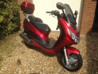 Peugeot Elystar 150P Scooter for sale. Colour: 'Splendour Red'. Good condition and performance.