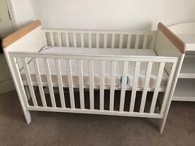 Mamas and Papas Prairie Cot/Junior Bed, plus mattress