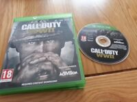 Call of duty WW2 xbox one game boxed complete