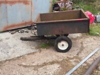 Ride on mower trailer