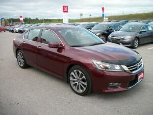2013 Honda Accord Sport Sedan CVT/NEW 18 INCH GOODYEAR TIRES!!! Kawartha Lakes Peterborough Area image 3
