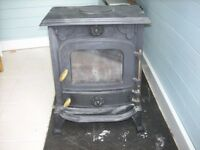 WoodBurning Stove cast iron multi stove 6KW heat output complete with all stainless steel flu