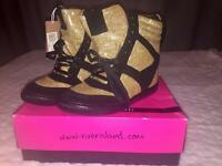 BRAND NEW SPARKLY RIVER ISLAND HIGH TOPS
