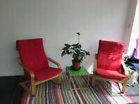 POANG IKEA Armchair in RED