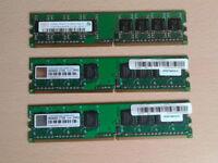 DDR2 RAM 3x DIMM 512MB