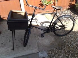 vintage trade bicycle. In great condition all original except front tube in tyre ready to ride