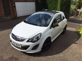 White Vauxhall Corsa Limited Edition 1.2