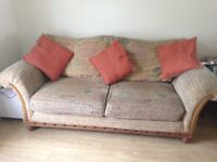 Large 2 seater sofa and armchair