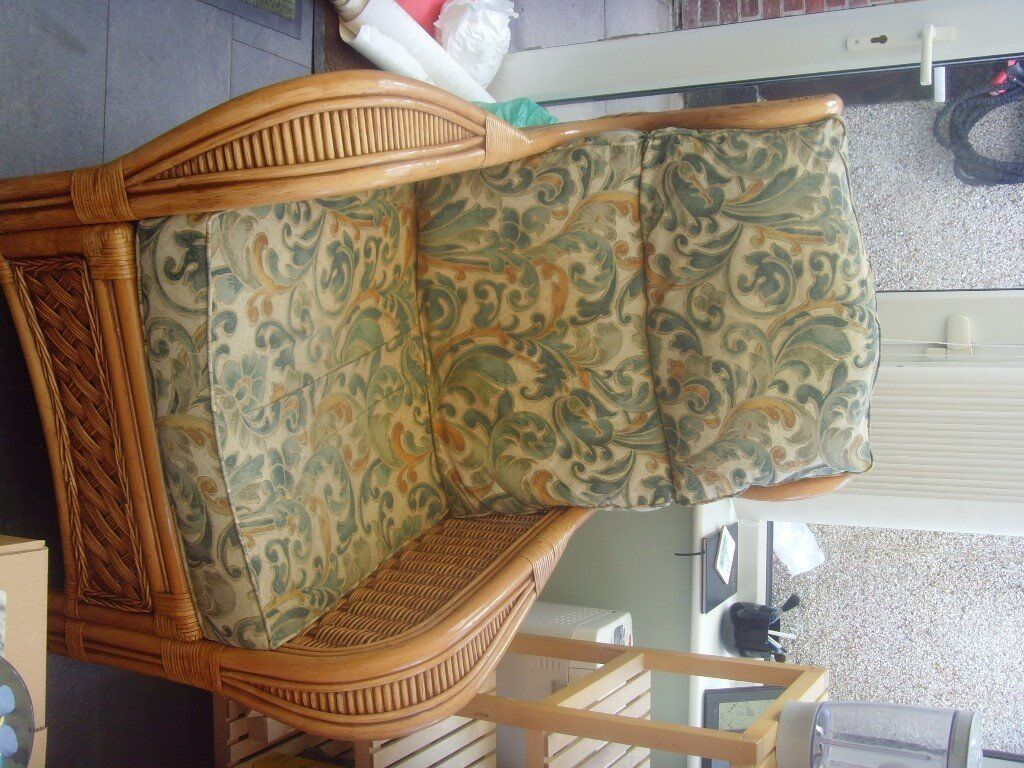 2 cane conservatory chairs