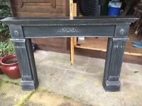 Professionally hand painted Cast Iron look fire surround.