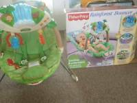 Baby bouncy chair fisher price