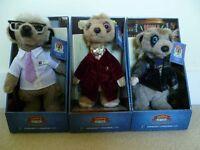 "Set of 3 Meerkat (""Compare the Meerkat"") Soft Toys"