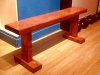 Hand Made solid wood Bench