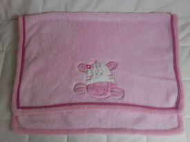 Warm fleece baby/cot/toddler blanket - NEW