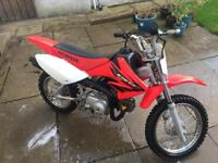 Crf70 Honda motorbike