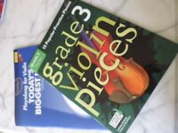 2 Violin books (Grade 3 and Greatest Hits with CD)