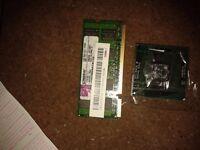 Intel Celeron 1M 800 AW80585900 SLGLQ 2.2GHZ CPU and 2GB 2Rx8 PC2-6400S-666-12-E2 RAM