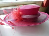 Beautiful bright pink and lilac hat