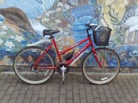 Raleigh Ladies Bike with lights and basket so your ready to go.